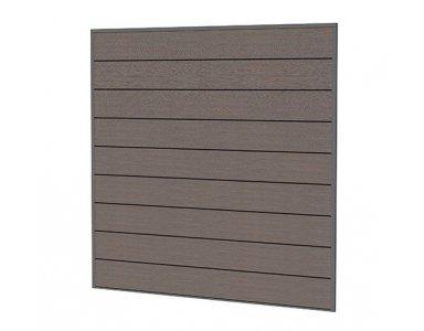Woodvision Composiet Scherm 181,5 x 181,5 cm, Bruin. - foto 1