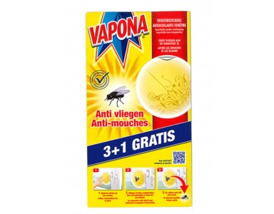 Vapona Vensterstickers 3+1 Gratis - foto 1
