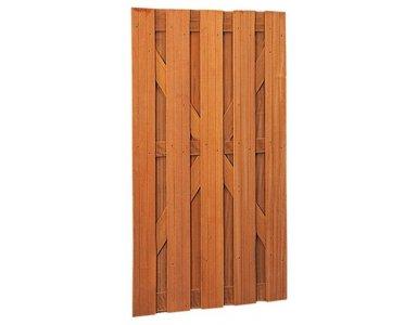 Woodvision Hardhouten Plankendeur Recht Verticaal 100 x 180 cm. - foto 1