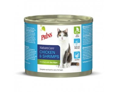 Prins Naturecare Cat - Kattenvoer - Kip Garnaal  2 x 200 g - foto 1