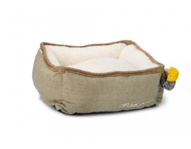 Designed y Lotte Jax - Kattenmand - Textiel - Beige - 40x40x15 cm - foto 1