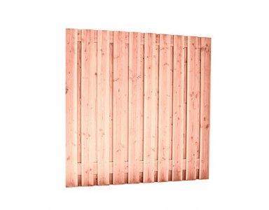 Woodvision Douglas Geschaafd Plankenscherm 21 Planks 16 mm, 180 x 180 cm t.b.v. Betonsysteem, Groen Geïmpregneerd - foto 1