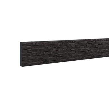 Woodvision Betonplaat Dubbelzijdig Leisteenmotief 36 x 3,5 x 184 cm, Antraciet Gecoat. - foto 1
