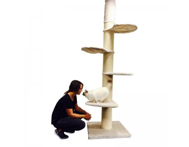 RHRQuality Krabpaal Main Coon Tower Creme Wit - foto 1