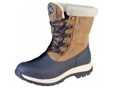 Muck Boot Arctic Lace Mid Leather Dames Beige/Navy - foto 1