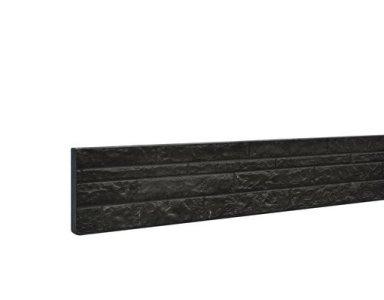 Woodvision Betonplaat Dubbelzijdig Rotsmotief 36 x 3,5 x 184 cm, Antraciet Gecoat. - foto 1