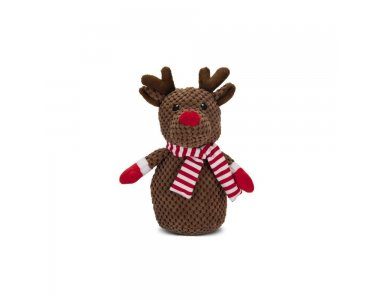 Beeztees Pluche Hondenknuffel Winter Rendier 22 cm - foto 1