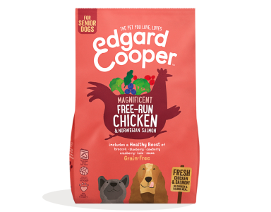 Edgard&Cooper Free-Run Chicken Senior Kip&Zalm&Broccoli - Hondenvoer -12 Kg - foto 1