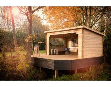 Woodvision Paviljoen Kolgans 400, 400 x 350 cm, Onbehandeld. - foto 1