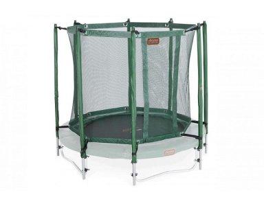 Avyna trampoline veiligheidsnet met palen Ø 430 cm Groen - foto 1