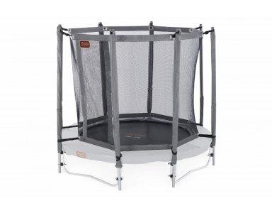 Avyna trampoline veiligheidsnet met palen Ø 430 cm Grijs - foto 1