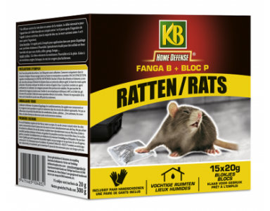 KB Home Defense Ratten blokjes 15x20gr - foto 1