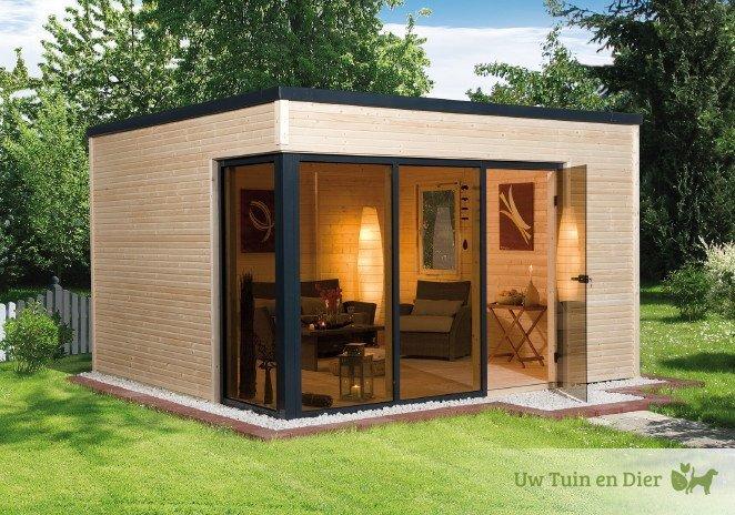 Weka modern tuinhuis 412 for Huis in de tuin