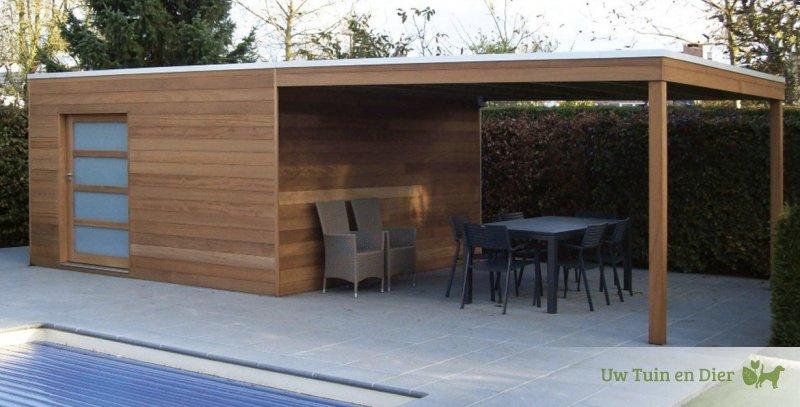 tack modern tuinhuis box iroko tokyo e vg 300cm. Black Bedroom Furniture Sets. Home Design Ideas