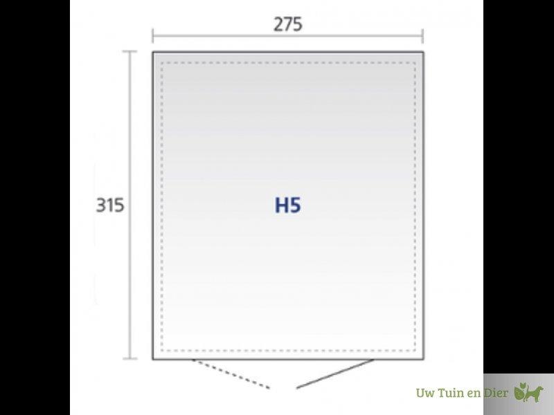 biohort berging highline h5 dubbele deuren. Black Bedroom Furniture Sets. Home Design Ideas
