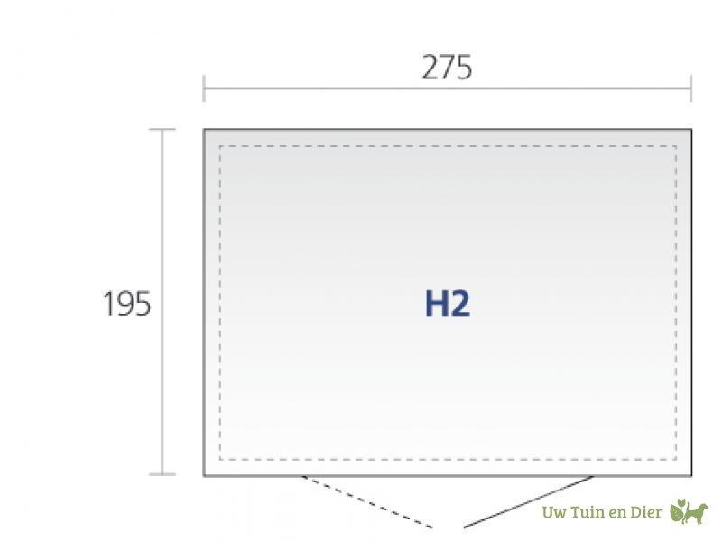 biohort berging highline h2 dubbele deuren. Black Bedroom Furniture Sets. Home Design Ideas
