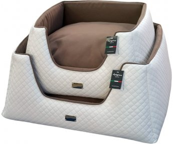 Dogbed Piramide Tronky Wit/Bruin