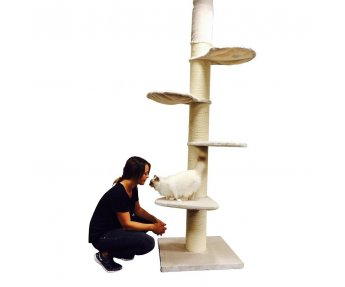 RHRQuality Krabpaal Main Coon Tower Creme Wit