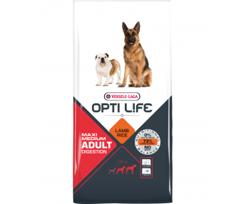 Opti Life Hondenvoer Adult Digestion Medium & Maxi 12,5 kg