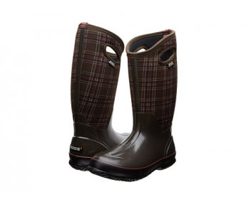 Bogs Classic Tall Winter Plaid Chocolate Multi Women