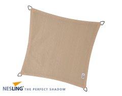 Nesling Coolfit Schaduwdoek Vierkant Gebroken Wit 3,6M