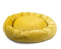 Donut Hondenkussen Velvetti Oud Geel 60x25cm