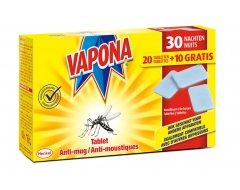 Vapona Anti Mug Tablet Navulling 20 + 10 Gratis