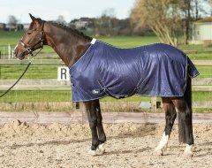 Harry's Horse Vliegendeken mesh standaard met singels navy