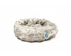 Donut Bed met Lang Haar Lichtgrijs 55x30x17cm