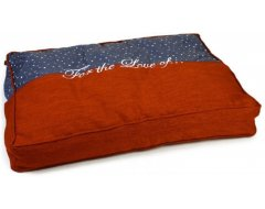 Designed by Lotte Tyda  Blauw Oranje Hondenkussen 100x70x15 cm