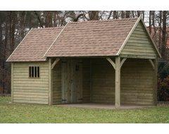 Dinowood Cottage Hoofdgebouw Half Open + Aanbouw Dicht