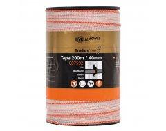 Turbo Line Lint Gallagher 40 mm Standaard Wit 200m