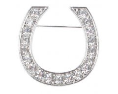 Harry's Horse Plastronspeld Crystal Horseshoe