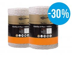 Gallagher Vidoflex 9 TurboLine Plus (wit, duopack 2x 200 meter) - met 30% korting!