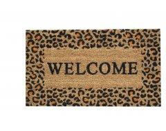 Deurmat Ledent Cocos Welcome Luipaardprint