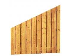 Woodvision Grenen Geschaafd Plankenscherm 21-planks 17 mm, 180 x 180/90 cm, Verticaal Recht Aflopend, Groen Geïmpregneerd.
