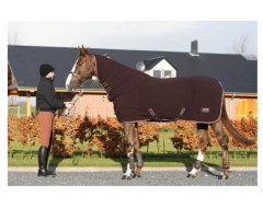 BR Paardendeken Chocolate Fleece met Hals