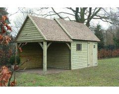 Dinowood Cottage Hoofdgebouw Dicht + Aanbouw half open