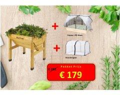 Pakketdeal VegTrug + Frame + PE-Hoes + Insectengaas