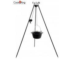 Cookking  Statiefrecht 180 cm Met Gietijzeren Ketel Met Emaille Binnenzijde