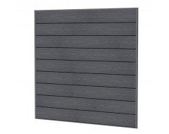 Woodvision Composiet Scherm Houtmotief 181,5 x 181,5 cm Antraciet.