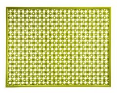 Scrapy Outdoor Mat Lime 48x62cm