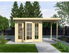 Tuinhuis 72 Gr1, 2X Glaspaneel + Aanbouw