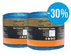 Duopack Kunstofdraad Blauw 2x400m - met 30% korting!