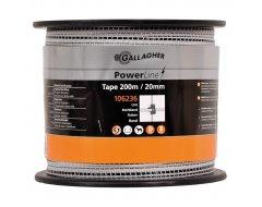 PowerLine Lint Gallagher 20 mm Wit 200m