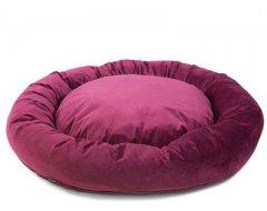 Donut Hondenkussen Velvetti Bordeaux  60x25cm