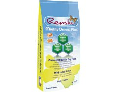 Renske Mighty Omega Plus Junior/Adult Lam&Rijst Hondenvoer 15 kg