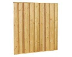 Woodvision Beto-dichtplankscherm Van Fijnbezaagde Vuren Planken, 180 x 180 cm.