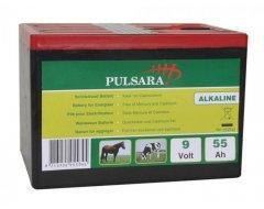 Pulsara Alkaline Batterij 9Volt, 55 Ah