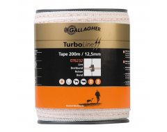 Turbo Line Lint Gallagher 12,5 mm Wit 200m